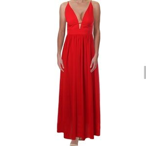 Aqua Plunging V-Neck Dress